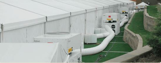 Mobile cooling units are great for tents